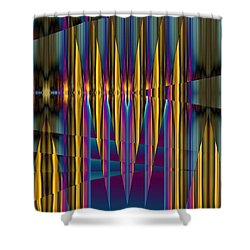 Ups And Downs Abstract Shower Curtain