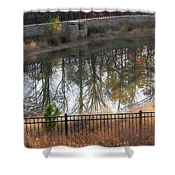 Shower Curtain featuring the photograph Upside Down by Pete Trenholm