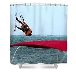 Upside Down World  Shower Curtain by Karen Wiles