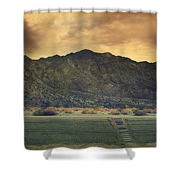 Upstairs Shower Curtain by Laurie Search