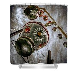 Upwardly Mobile Shower Curtain by Wayne Sherriff
