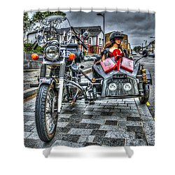 Ural Wolf 750 And Sidecar Shower Curtain