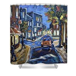 Urban Avenue By Prankearts Shower Curtain by Richard T Pranke