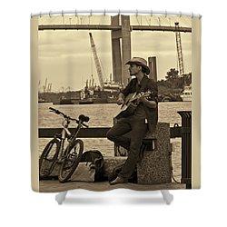 Urban Cowboy Shower Curtain
