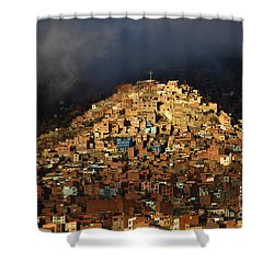 Urban Cross 2 Shower Curtain by James Brunker