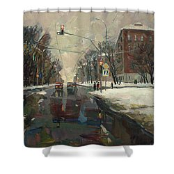 Urban Crossroad Shower Curtain