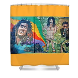 Shower Curtain featuring the photograph Urban Graffiti 1 by Janice Westerberg