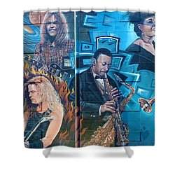 Shower Curtain featuring the photograph Urban Graffiti 2 by Janice Westerberg