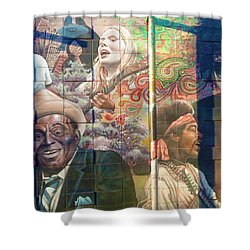 Shower Curtain featuring the photograph Urban Graffiti 3 by Janice Westerberg