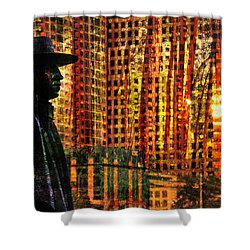 Urban Guru Shower Curtain by Skip Hunt