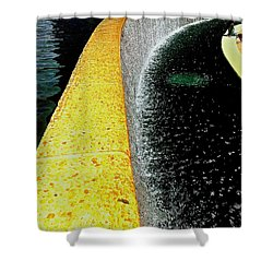 Urban Oasis Shower Curtain by James Aiken