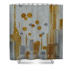 Shower Curtain featuring the painting Urban Polish by Judith Rhue