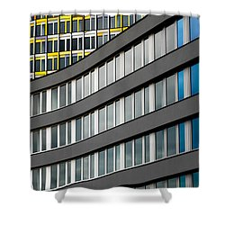 Urban Rectangles Shower Curtain by Hannes Cmarits