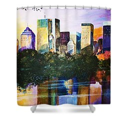 Urban Reflections Shower Curtain by Al Brown