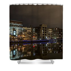 Urban River Reflected Shower Curtain