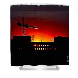 Urban Sunrise Shower Curtain by Linda Bianic