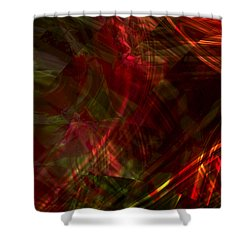 Urgent Orbital Shower Curtain by Richard Thomas