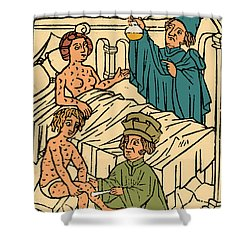 Uroscopy Patients With Syphilis 1497 Shower Curtain by Science Source