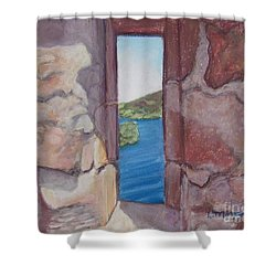Archers' Window Urquhart Ruins Loch Ness Shower Curtain