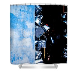 Uruguayan Tin  Shower Curtain by Cecil K Brissette