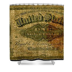 U.s. 1886 One Dollar Silver Certificate  Shower Curtain by Lanjee Chee