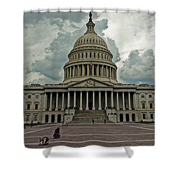 Shower Curtain featuring the photograph U.s. Capitol Building by Suzanne Stout