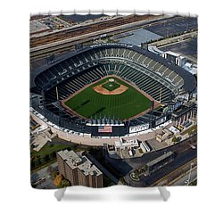 Us Cellular Field Chicago Sports 08 Shower Curtain by Thomas Woolworth