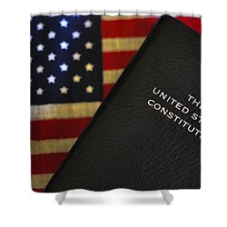 United States Constitution And Flag Shower Curtain