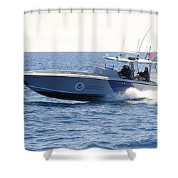 Us Customs At Work Shower Curtain
