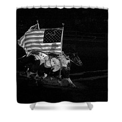 Shower Curtain featuring the photograph U.s. Flag Western by Ron White