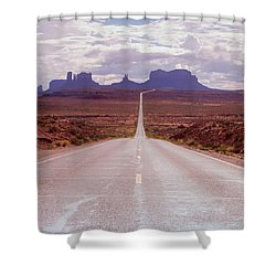 Us Highway 163 Shower Curtain