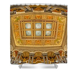 Us Library Of Congress Shower Curtain by Susan Candelario