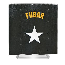 Us Military Fubar Shower Curtain by Thomas Woolworth