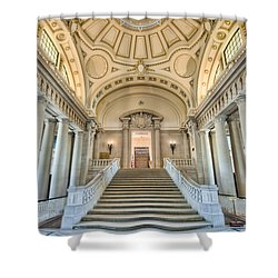 Us Naval Academy Bancroft Hall I Shower Curtain