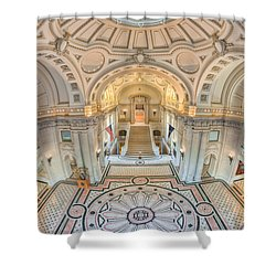 Us Naval Academy Bancroft Hall IIi Shower Curtain by Clarence Holmes