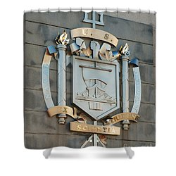 Us Naval Academy Insignia Shower Curtain by Mark Dodd