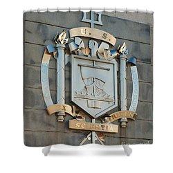 Us Naval Academy Insignia Shower Curtain by Mark Dodd
