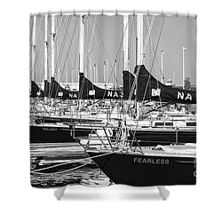 Us Navy 44 Sail Training Craft II Shower Curtain