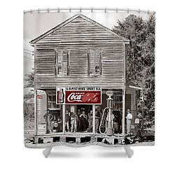 U.s. Post Office General Store Coca-cola Signs Sprott  Alabama Walker Evans Photo C.1935-2014. Shower Curtain by David Lee Guss