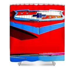Usa And Chevrolet Shower Curtain by Greg Moores