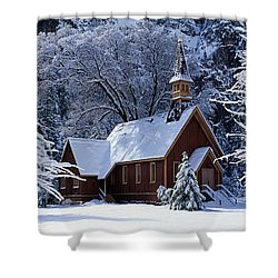 Usa, California, Yosemite Park, Chapel Shower Curtain
