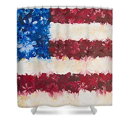 Shower Curtain featuring the painting Usa Proud by Melinda Cummings