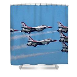 U.s.a.f. Thunderbirds Shower Curtain