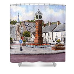 Usk In Bloom Shower Curtain by Andrew Read