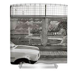 Uskudar Dreams Shower Curtain by Shaun Higson