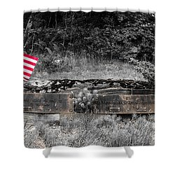 Shower Curtain featuring the photograph Usmc Veteran Headstone by Sherman Perry