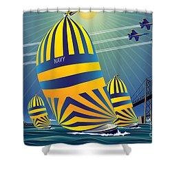 Usna High Noon Sail Shower Curtain