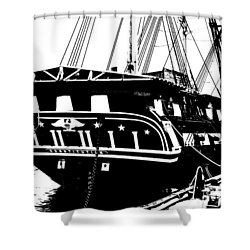 Uss Constitution Shower Curtain by Charlie and Norma Brock