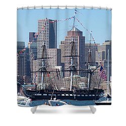 Uss Constitution Shower Curtain by Catherine Gagne