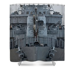 Uss Kidd Dd 661 Front View Shower Curtain